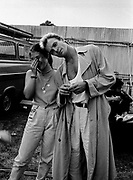 Sting with a fan at the Womad Festival 1996