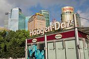 A Haagen Daz ice cream kiosk in Pudong, Shanghai, China