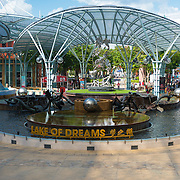 Lake of dreams in Resort World Sentosa, Singapore