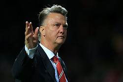 30-9-2015 ENG: UEFA Champions League Manchester United - VfL Wolfsburg, Manchester<br /> Man Utd manager Louis van Gaal<br />  Photo: Simon Stacpoole / Offside.<br /> <br /> ***** NETHERLANDS ONLY ******