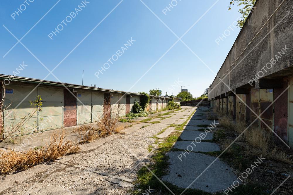 Abandoned garage in Bratislava suburbs