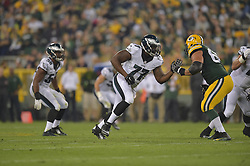 Kevin Graf against the Green Bay Packers at Lambeau Field on August 29, 2015 in Green Bay, Pennsylvania. The Eagles won 39-26. (Photo by Drew Hallowell/Philadelphia Eagles)