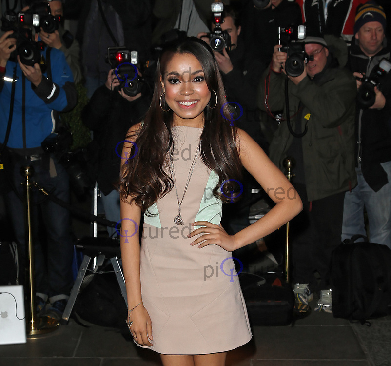LONDON - JANUARY 12:  Dionne Bromfield attends The BRIT Awards 2012 Nominations at The Savoy hotel, London, UK on January 12, 2012. (Photo by Richard Goldschmidt)