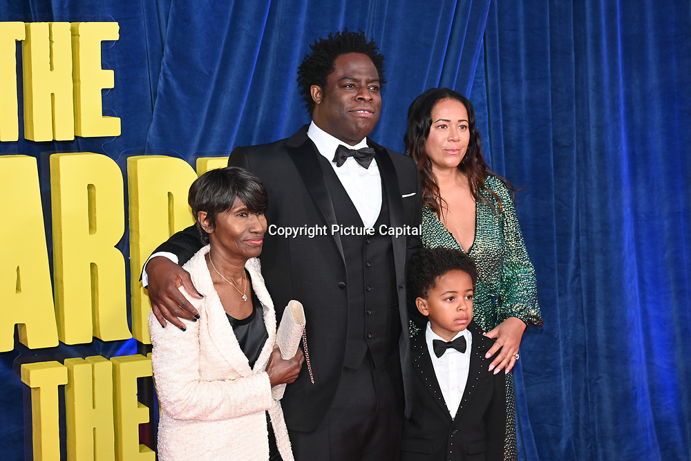 """Director Jeymes Samuel and families attended """"The Harder They Fall"""" Opening Night Gala - 65th BFI London Film Festival, Southbank Centre, London, UK. 6 October 2021."""
