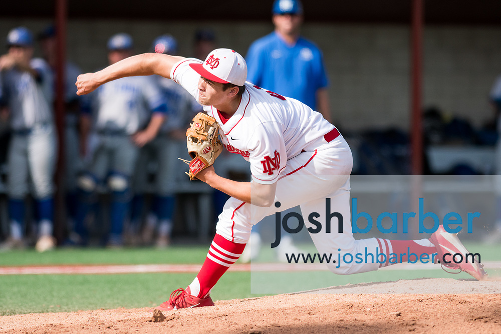 Mater Dei's Jake Briones during the CIF-SS Division 1 Baseball Semifinal: El Toro v Mater Dei at Mater Dei High School on Tuesday, May 30, 2017 in Santa Ana, California. (Photo/Josh Barber)