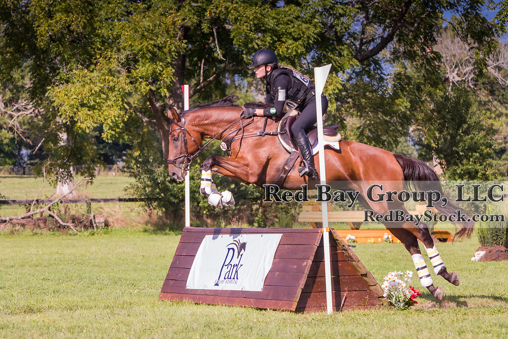 Cecilia Emilsson and Blazing Angel at the USEA American Eventing Championships in Lexington, Kentucky.