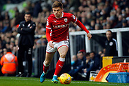 Marley Watkins of Barnsley in action. EFL Skybet championship match, Fulham v Barnsley at Craven Cottage in London on Saturday 23rd December 2017<br /> pic by Steffan Bowen, Andrew Orchard sports photography.