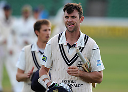 All smiles for Middlesex's James Franklin - Photo mandatory by-line: Harry Trump/JMP - Mobile: 07966 386802 - 29/04/15 - SPORT - CRICKET - LVCC Division One - County Championship - Somerset v Middlesex - Day 4 - The County Ground, Taunton, England.