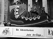 """St Patrick's Day Parade.1982.17/03/1982.03.17.1982.""""An Oige"""". Irish youth Hostels  urge us to take part in the great outdoors."""