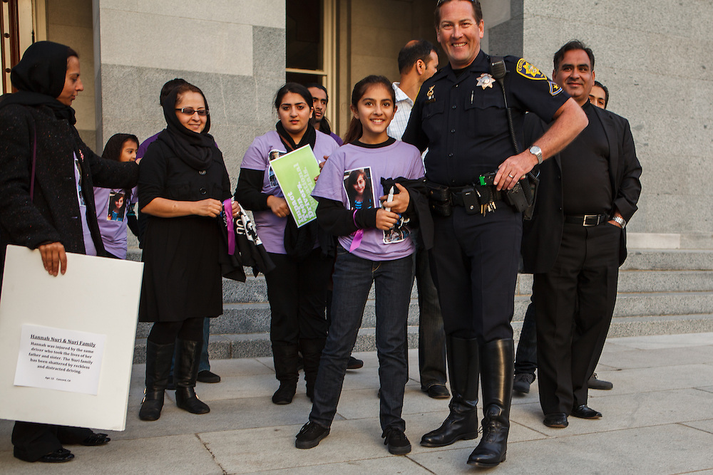 Solaiman Nuri, 41, and Hadessa Nuri, 9, of Concord were killed on Saturday April 7, 2012 while riding bicycles when a teenager drove onto the sidewalk and hit them. The family attended a press conference in Sacramento, California later the same month.