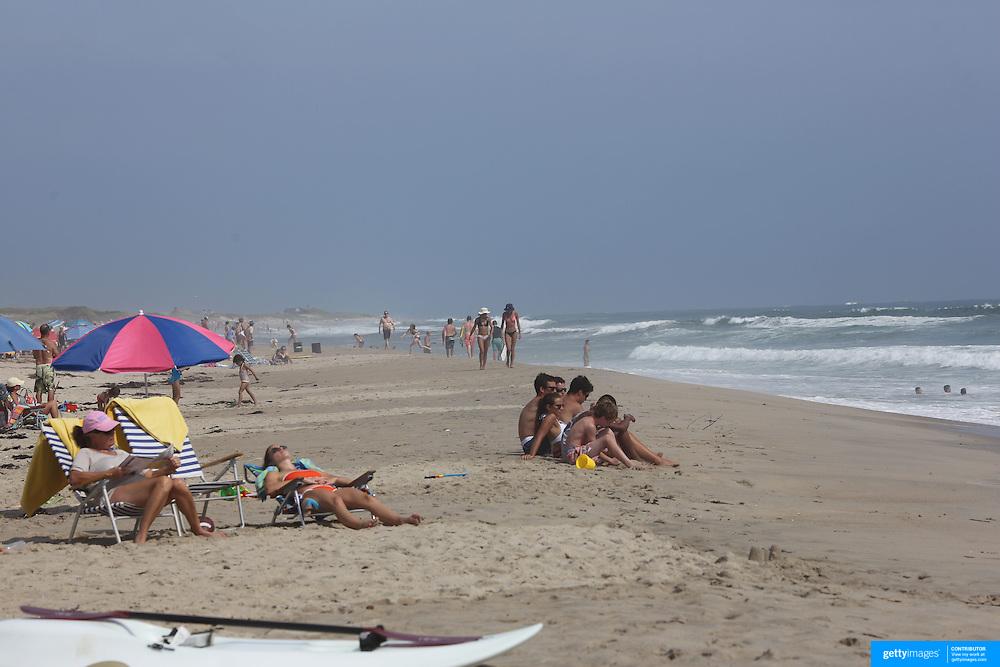 A beach scene in the height of summer of Cisco Beach, Nantucket, Nantucket Island, Massachusetts, USA. Photo Tim Clayton