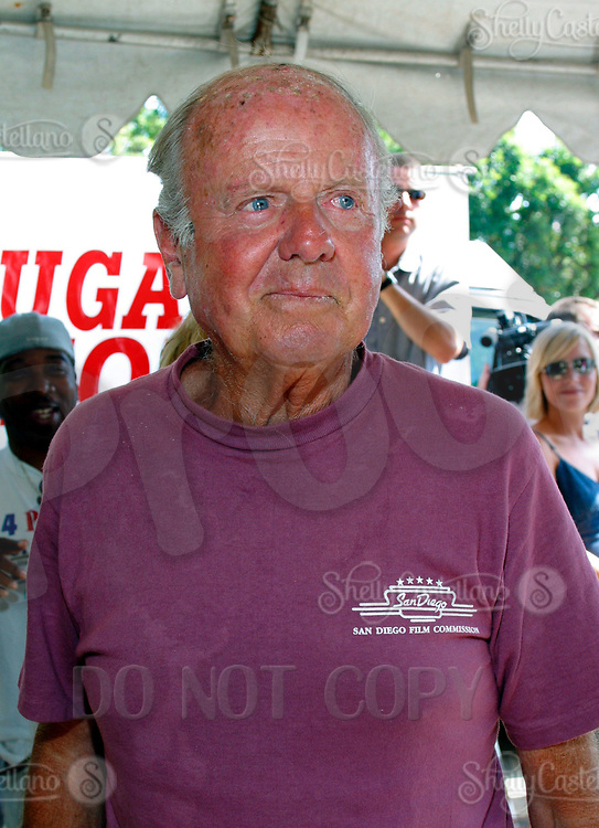 Jul 09, 2002; Los Angeles, CA, USA; Actor DICK VAN PATTEN arrives @ SUGAR RAY LEONARD BOXING first year anniversary which was celebrated with a live fight night on ESPN2 from the Playboy Mansion in Holmby Hills.  Over 350 invited guests attended the cocktail reception and showdown in the back yard of Playboy HUGH HEFNER's 5.5 acre estate. <br />Mandatory Credit: Photo by Shelly Castellano/ZUMA Press.<br />(©) Copyright 2002 by Shelly Castellano
