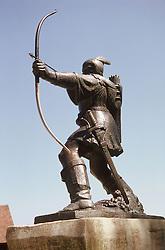 Statue of Robin Hood in Nottingham,