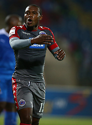 Thuso Phala of SuperSport United during the 2016 Premier Soccer League match between Maritzburg Utd and SuperSport United held at the Harry Gwala Stadium in Pietermaritzburg, South Africa on the 21st September 2016<br /> <br /> Photo by:   Steve Haag / Real Time Images
