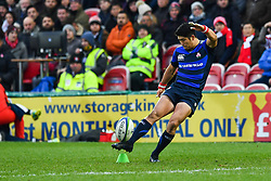 Rikiya Matsuda of Japan converts his sides try<br /> <br /> Photographer Craig Thomas<br /> <br /> Japan v Russia<br /> <br /> World Copyright ©  2018 Replay images. All rights reserved. 15 Foundry Road, Risca, Newport, NP11 6AL - Tel: +44 (0) 7557115724 - craig@replayimages.co.uk - www.replayimages.co.uk