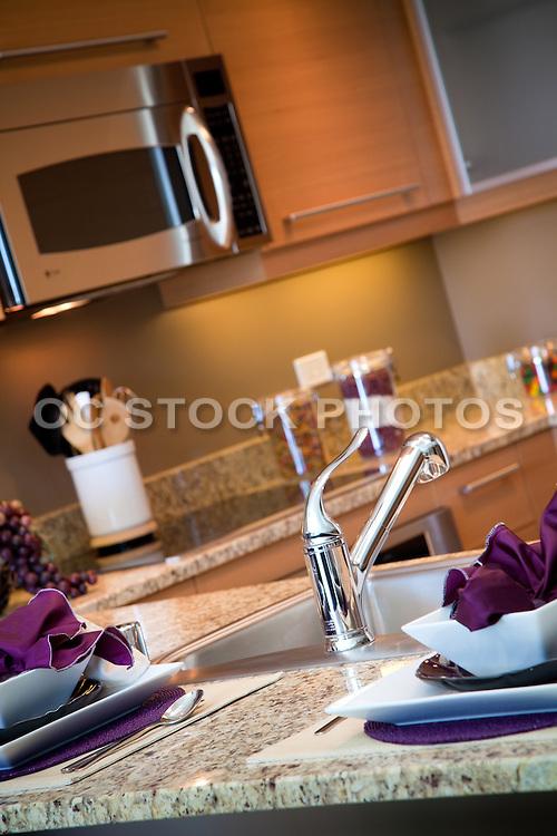 Model Home Kitchen with Granite Countertops