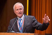 UTRECHT - KNHB voorzitter Jan Albers. Algemene Ledenvergadering  KNHB bij de Rabobank in Utrecht. Voorzitter Jan Albers wordt opgevolgd door Erik Cornelissen. COPYRIGHT KOEN SUYK