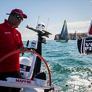 Leg Zero, St. Malo - Lisbon:  on board xx, . Photo by Jen Edney/Volvo Ocean Race. 13August, 2017
