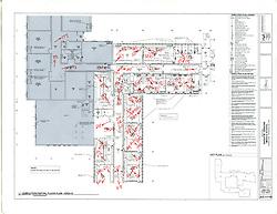 Sarah Gibbons Middle School Pre-Demolition Documentation. Key Plan Number 6 of 15