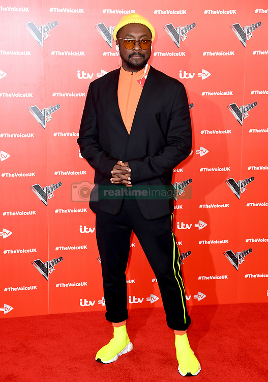 will.i.am attending The Voice UK 2019 Launch Photocall held at W Hotel, Leicester Square, London. Picture credit should read: Doug Peters/EMPICS