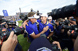 September 30, 2018 - Guyancourt, France, France - joie de Ian Poulter of England (Team Europ) / Sergio Garcia of Spain  (Credit Image: © Panoramic via ZUMA Press)