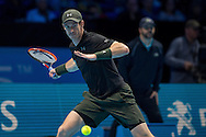 Andy Murray of Great Britain during day four of the Barclays ATP World Tour Finals at the O2 Arena, London, United Kingdom on 16 November 2016. Photo by Martin Cole.