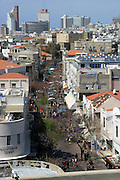 Nachlat Binyamin street as seen from the Shalom tower
