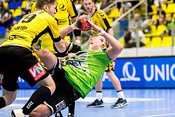 27.04.2018, BSFZ Suedstadt, Maria Enzersdorf, AUT, HLA, SG INSIGNIS Handball WESTWIEN vs Bregenz Handball, Viertelfinale, 1. Runde, im Bild Wilhelm Jelinek (SG INSIGNIS Handball WESTWIEN) // during Handball League Austria, quarterfinal, 1 st round match between SG INSIGNIS Handball WESTWIEN and Bregenz Handball at the BSFZ Suedstadt, Maria Enzersdorf, Austria on 2018/04/27, EXPA Pictures © 2018, PhotoCredit: EXPA/ Sebastian Pucher