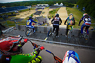 at the UCI BMX Supercross World Cup in Papendal, Netherlands.