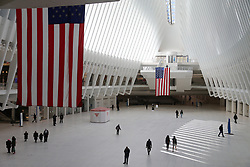 Atmosphere of Westfield World Trade Center during the Covid-19 pandemic in New York City, NY, USA on April 22, 2020. The Big Apple neared a painful milestone Wednesday as the death toll from the coronavirus outbreak that has ravaged the five boroughs approached 15,000. The pandemic has claimed the lives of 14,996 New Yorkers, with new 569 fatalities reported in the most recent 24-hour period, according to data from the city's Department of Health. Photo by Charles Guerin/ABACAPRESS.COM