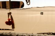 Driving offroad through the Sahara Desert, near the Siwa Oasis, Egypt