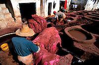 Maroc - Fès - Les souks de Fès el Bali - Quartier des Tanneurs