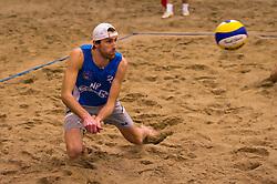 08-01-2011 VOLLEYBAL: CEV SATELLITE INDOOR BEACHVOLLEYBALL: AALSMEER<br /> The first CEV Indoor beachvolleyball tournament / Emiel Boersma<br /> ©2011-WWW.FOTOHOOGENDOORN.NL / Peter Schalk