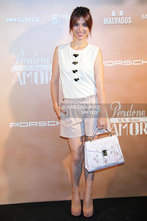 Cristina Brondo attends 'Perdona Si Te Llamo Amor' premiere at Cinesa Theater on June 16, 2014 in Madrid, Spain.
