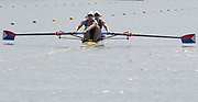 Poznan, POLAND, 21st June 2019, Friday, Morning Heats, USA. W2-/1 (b) KALMOE Megan and EISSER Tracy, FISA World Rowing Cup II, Malta Lake Course, © Peter SPURRIER/Intersport Images,<br /> <br /> 10:02:17