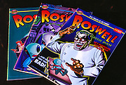 Roswell, Little Green Man comics.  Roswell, New Mexico.  (1947 UFO incident.) (1997).