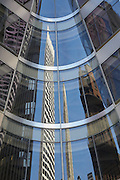Details of architectural metal on 7 Bryant Park