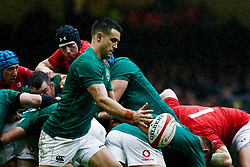 Conor Murray of Ireland<br /> <br /> Photographer Simon King/Replay Images<br /> <br /> Six Nations Round 5 - Wales v Ireland - Saturday 16th March 2019 - Principality Stadium - Cardiff<br /> <br /> World Copyright © Replay Images . All rights reserved. info@replayimages.co.uk - http://replayimages.co.uk