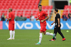 June 22, 2018 - Moscow, RUSSIA - Tunesia's Rami Bedoui pictured during a training session of Tunisian national soccer team in the Spartak stadium, in Moscow, Russia, Friday 22 June 2018. The team is preparing for their second game against Belgium tomorrow at the FIFA World Cup 2018. BELGA PHOTO BRUNO FAHY (Credit Image: © Bruno Fahy/Belga via ZUMA Press)