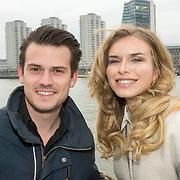 NLD/Rotterdam/20150315 - Premiere Cinderella, Levi van Kempen en partner Elisah van der Meyden