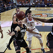 Michael Carrera, (left), South Carolina, rebounds during the St. John's vs South Carolina Men's College Basketball game in the Hall of Fame Shootout Tournament at Mohegan Sun Arena, Uncasville, Connecticut, USA. 22nd December 2015. Photo Tim Clayton