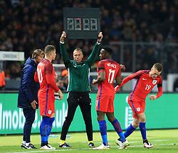 Englands Danny Welbeck is replaced by Jamie Vardy  - Mandatory by-line: Matt McNulty/JMP - 26/03/2016 - FOOTBALL - Olympiastadion - Berlin, Germany - Germany v England - International Friendly