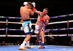 Tommy Coyle (right) in action against Chris Algieri in the WBO International Super-Lightweight title at Madison Square Garden, New York.