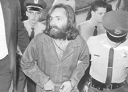 August 1, 2019, USA: Charles Manson is escorted to court in Los Angeles for a preliminary hearing Dec. 3, 1969. (Credit Image: © TNS via ZUMA Wire)