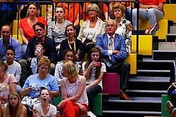 20140425 NED: Jong Oranje Vrouwen - Montenegro, Arnhem <br /> Onder de toeschouwers bevinden zich ook Joelle Staps en Hans Nieukerke<br /> ©2014-FotoHoogendoorn.nl / Pim Waslander