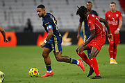 Memphis DEPAY of Lyon during the French championship Ligue 1 football match between Olympique Lyonnais and Nimes Olympique on September 18, 2020 at Groupama stadium in Decines-Charpieu near Lyon, France - Photo Romain Biard / Isports / ProSportsImages / DPPI