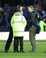 Rugby Union - 2017 Autumn Internationals - Scotland vs. New Zealand<br /> <br /> Steve Hansen head coach of New Zealand complains after a tv camera man gets too close to the team huddle after the match at Murrayfield.<br /> <br /> COLORSPORT/LYNNE CAMERON