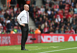 Burnley manager Sean Dyche looks on during the game