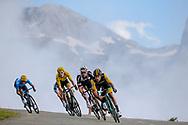 Primoz Roglic (SLO - Team LottoNL - Jumbo), Tom Dumoulin (NED - Team Sunweb), Geraint Thomas (GBR - Team Sky), Mikel Landa (ESP - Movistar) during the 105th Edition of Tour de France 2018, cycling race stage 19, Lourdes - Laruns (200 km) on July 27, 2018 in Laruns, France - photo Kei Tsuji / BettiniPhoto / ProSportsImages / DPPI