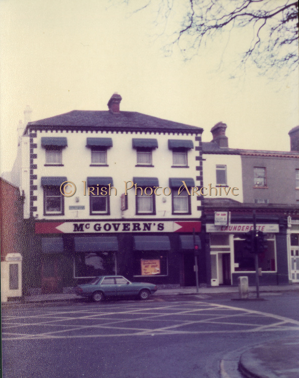 Old Dublin Amature Photos Date Unknown With 1980s, McGovern's, Pub, Launderette, Old amateur photos of Dublin streets churches, cars, lanes, roads, shops schools, hospitals